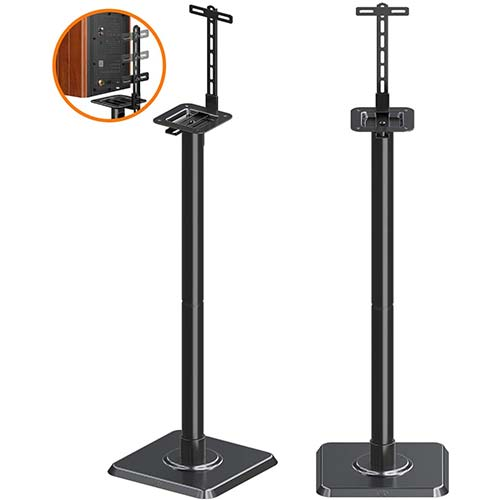 5. Mounting Dream Speaker Stands Bookshelf Speaker Stands for Universal Satellite Speakers