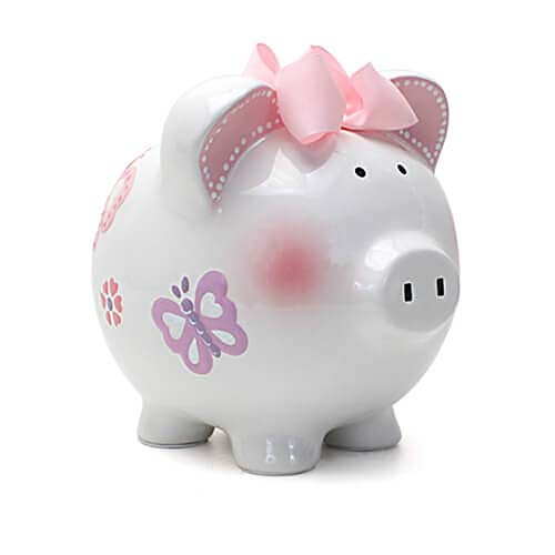 6. Child to Cherish Ceramic Piggy Bank for Girls