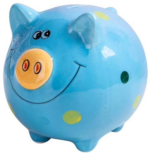 9. JYPHM Ceramic Piggy Bank for Kids Coin Bank for Boys and Girls Unique Birthday Gift Nursery Decor Piggy Banks