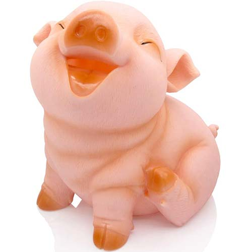 4. H&W Cute Pig Coin Money Bank, Shatterproof Piggy Bank for Kids, Creative Money Bank