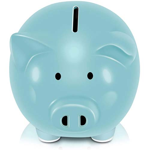 1. Koicaxy Piggy Bank, Child to Cherish Ceramic Pig Piggy Banks Money Bank Coin Bank