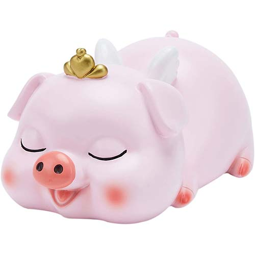 5. VANVENE Cute Piggy Bank for Girls, Pink Banks with Crown, Perfect Coin Bank Money Bank
