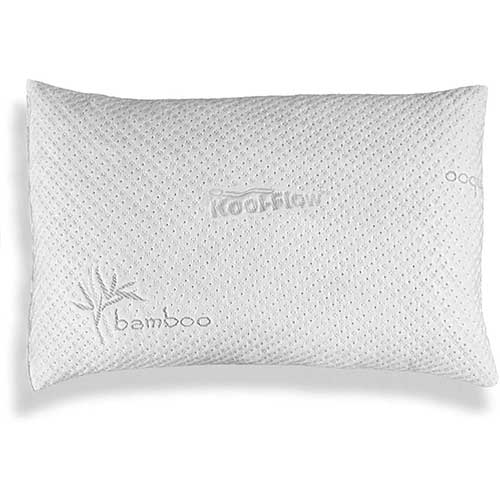 6. Xtreme Comforts Hypoallergenic, Adjustable Thickness, Kool-Flow Micro Vented Bamboo Shredded Memory Foam Bed Pillow
