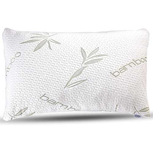 1. Bamboo Pillow - Premium Pillows for Sleeping - Memory Foam Pillow with Washable Pillow Case