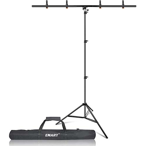 7. Emart T-Shape Portable Background Backdrop Support Stand Kit 5ft Wide 8.5ft Tall Adjustable Photo Backdrop Stand