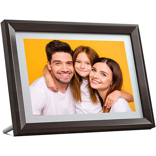 2. Dragon Touch Digital Picture Frame WiFi 10 inch IPS Touch Screen HD Display, 16GB Storage