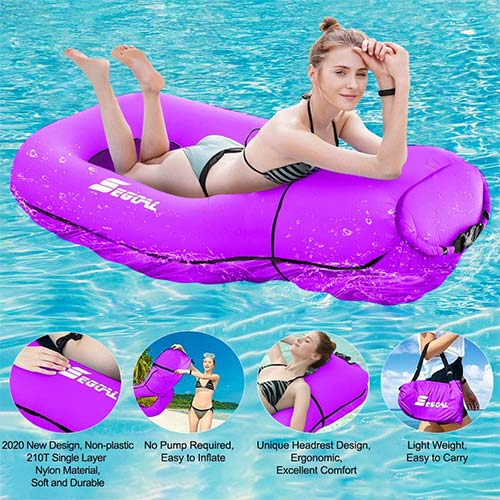 9. SEGOAL Pool Floats Inflatable Floating Lounger Chair Water Hammock Raft Swimming Ring Pool Toy
