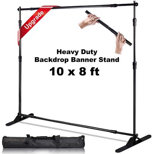 3. AkTop 10 x 8 ft Heavy Duty Backdrop Banner Stand Kit, Adjustable Photography Step and Repeat Stand