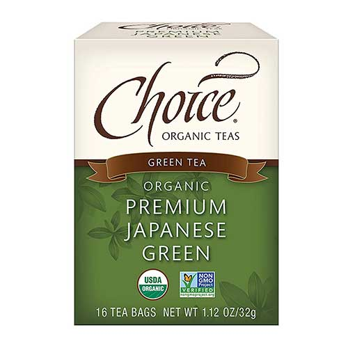 4. Choice Organic Teas - Premium Japanese Green Tea (6 Pack) - Organic Green Tea - 96 Tea Bags