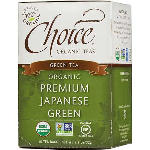 10. Choice Organic Teas Green Tea, 16 Tea Bags, Premium Japanese Green