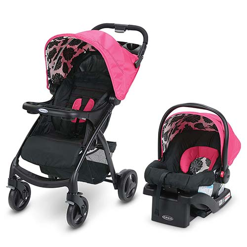 6. Graco Verb Travel System | Includes Verb Stroller and SnugRide 30 Infant Car Seat