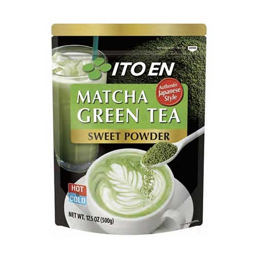 5. Ito En Matcha Green Tea, Sweet Powder, 17.5 Ounce (Pack of 1), Sweetened Green Tea Powder