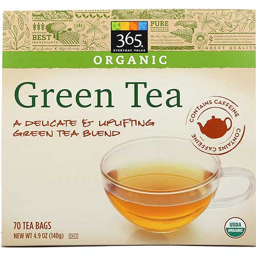 7. 365 Everyday Value, Organic Green Tea (70 Tea Bags)