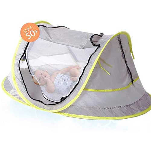 5. Portable Baby Beach Tent Pop Up Bed Lightweight Travel Crib Bed Outdoor Backpacking Tent
