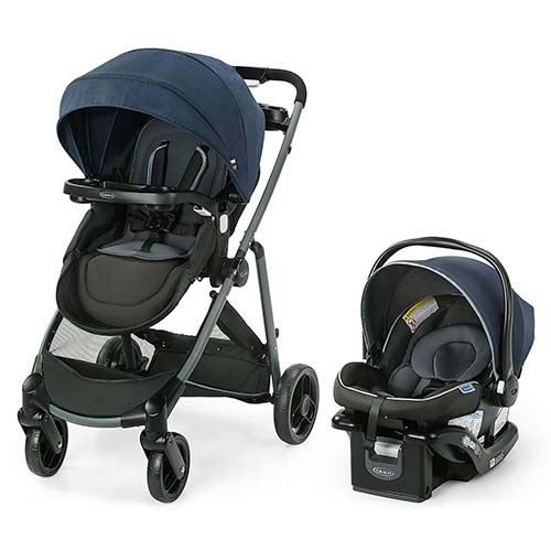 8. Graco Modes Element LX Travel System | Includes Baby Stroller with Reversible Seat