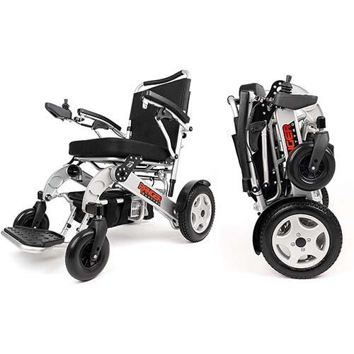 1. Porto Mobility Ranger Quattro XL Heavy Duty Ultra Exclusive Lightweight Foldable Electric Wheelchair