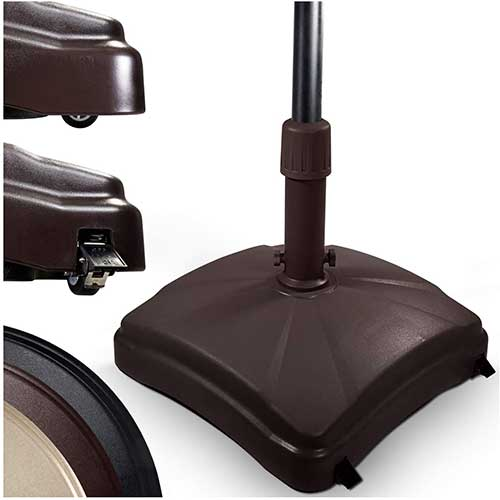 8. Shademobile Outdoor Umbrella Stand w/ Easy Rolling base