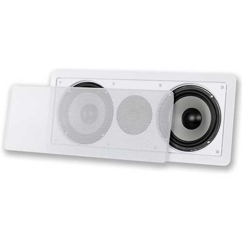 6. Acoustic Audio CS-IW26CC 250 Watts in-Wall Dual 6.5-Inch Center Channel Speaker