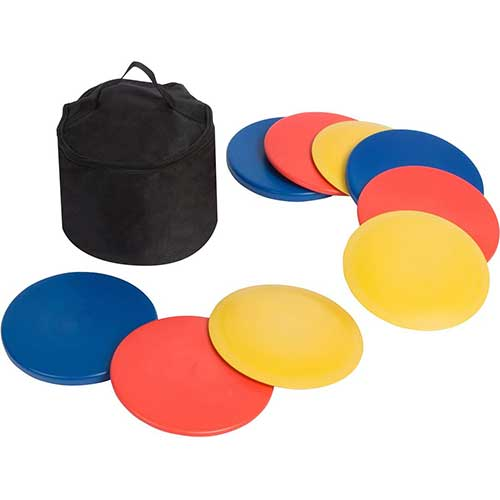 6. Trademark Innovations Disc Golf Set (9 Discs) with Disc Golf Bag