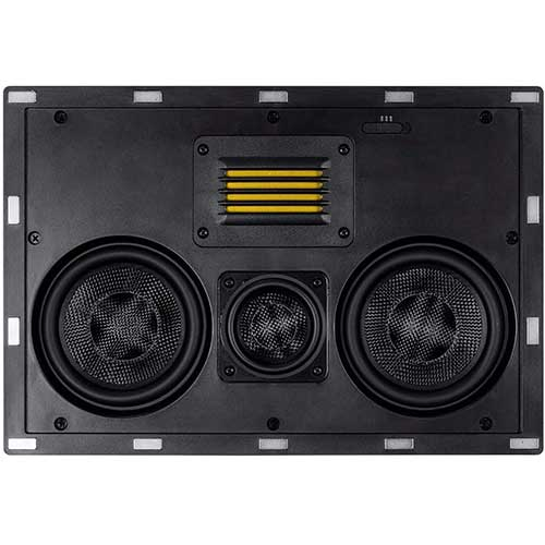 7. Monoprice 3-Way Carbon Fiber in-Wall Speaker Center Channel