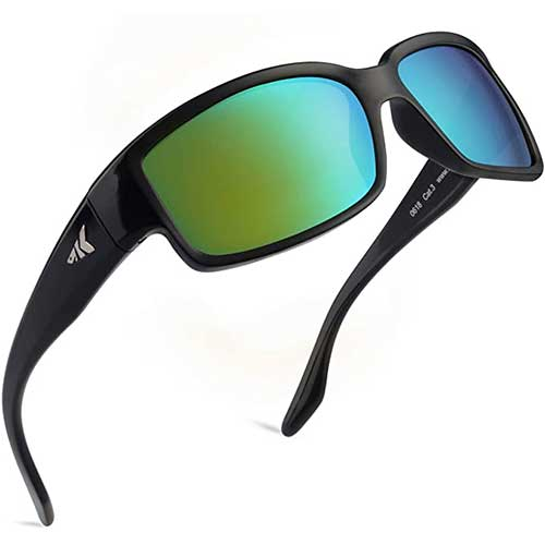 1. KastKing Skidaway Polarized Sport Sunglasses for Men and Women, Ideal for Driving Fishing Cycling and Running, UV Protection