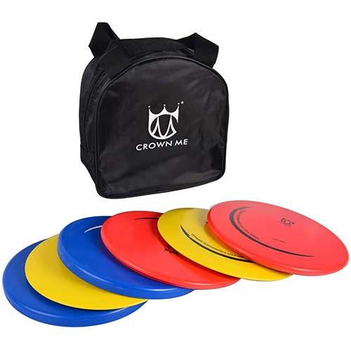 2. CROWN ME Disc Golf Set with 6 Discs and Starter Disc Golf Bag