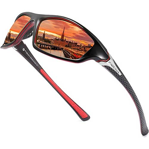6. Sports Polarized Sunglasses For Men Cycling Driving Fishing 100% UV Protection