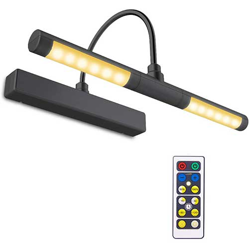 1. BIGLIGHT Wireless Battery Operated LED Picture Light with Remote