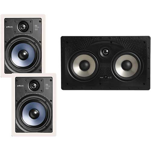 2. Polk Audio RC65i 2-way 6.5-inch In-wall Speakers (Pair) with 255C-RT Center Channel In-wall Speaker