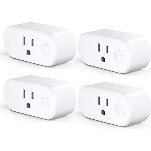 7. Aoycocr Timers for Electrical Outlets - WiFi Smart Plugs That Work with Alexa Google Home Assistant, Energy Monitoring and Timer Function