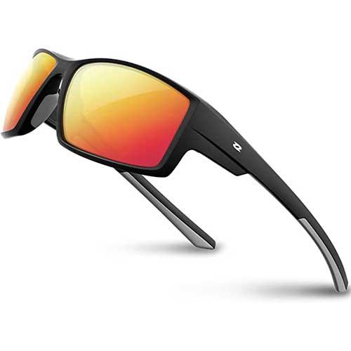 5. RIVBOS Polarized Sports Sunglasses Driving shades For Men TR90 Unbreakable Frame RB831