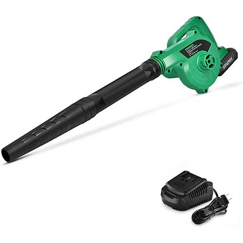 6. K I M O. 20V Cordless Leaf Blower Double Length Blow Tube 2-in-1 Blower & Vacuum Cleaner