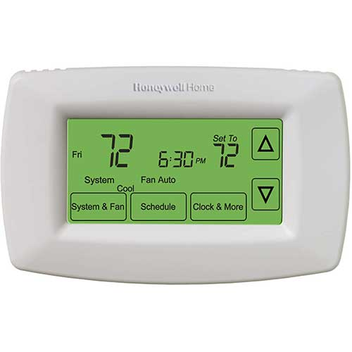 2. Honeywell Home RTH7600D 7-Day Programmable Touchscreen Thermostat, small, white, 1-pack