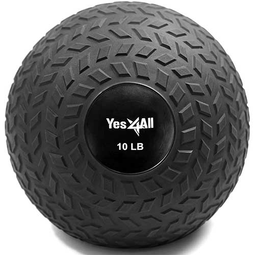 3. Yes4All Slam Balls (Black, Blue, Teal, Orange & Glossy) 10-40lbs for Strength and Crossfit Workout – Slam Medicine Ball