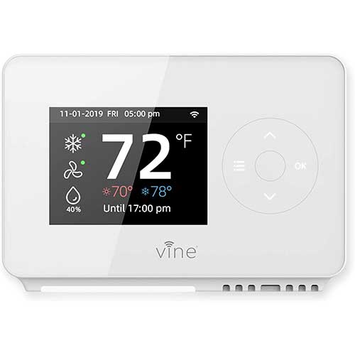 3. Vine Smart Wifi 7day/8period Programmable Thermostat Model TJ-225, Compatible with Alexa and Google assistant