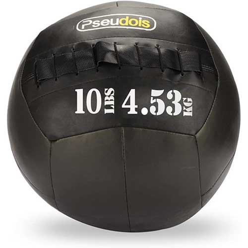 9. MOVSTAR Medicine Balls - Wall Ball for Slamming-Surface Non-Slip Material-Exercise Ball Set
