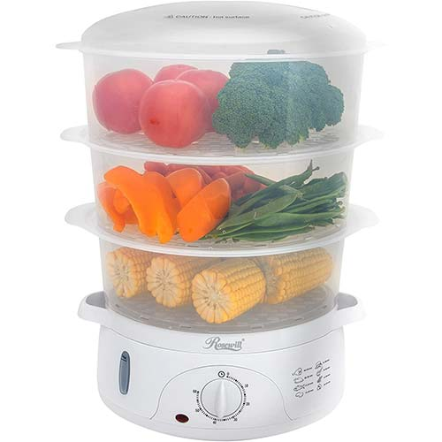 2. Rosewill BPA-Free, Quart (9L), 3-Tier Stackable Baskets Electric Timer Food, 2.20