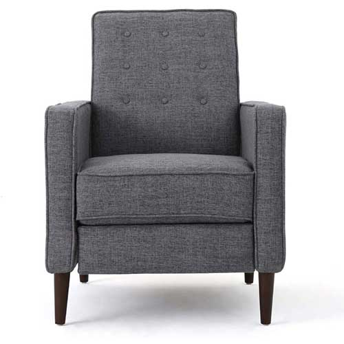 Best Living Room Chair for Neck Pain 9. Christopher Knight Home Braant Mid-Century Fabric Rocker, Grey / Light Walnut